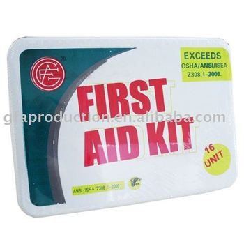 16 Unit First Aid Kit - Metal Case