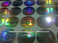 Stamped Holographic Paper Label
