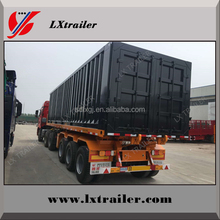 3 axles cargo box transport semi trailer with box trailer kits