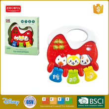 HQ farm animal children learning machine plastic B/O musical instrument baby rattle toy plastic piano toy musical toy for kids