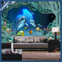 Living room new design 3d effect wallpaper mural cartoon animal