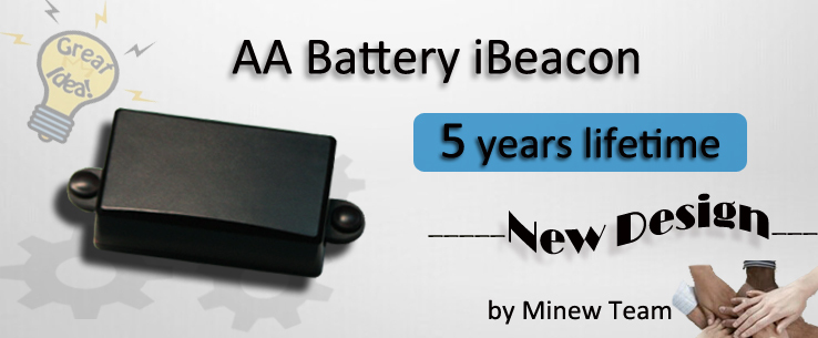 5 years battery lifetime AA battery iBeacon & Eddystone