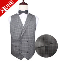 Latest design checked pattern casual British style vest men suit