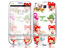 Well sellng lovely red cats fit full body cover skin for samsung s4