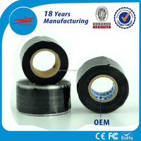 Waterproof high temperature black silicone rubber tape with high dielectric strength
