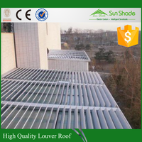 304 steel components RAL9006 aluminum white Curtain Wall Vent Louver
