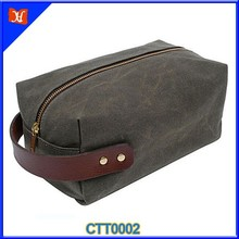 Wholesale Custom High Quality Makeup canvas Mens Travel Cosmetic Bag