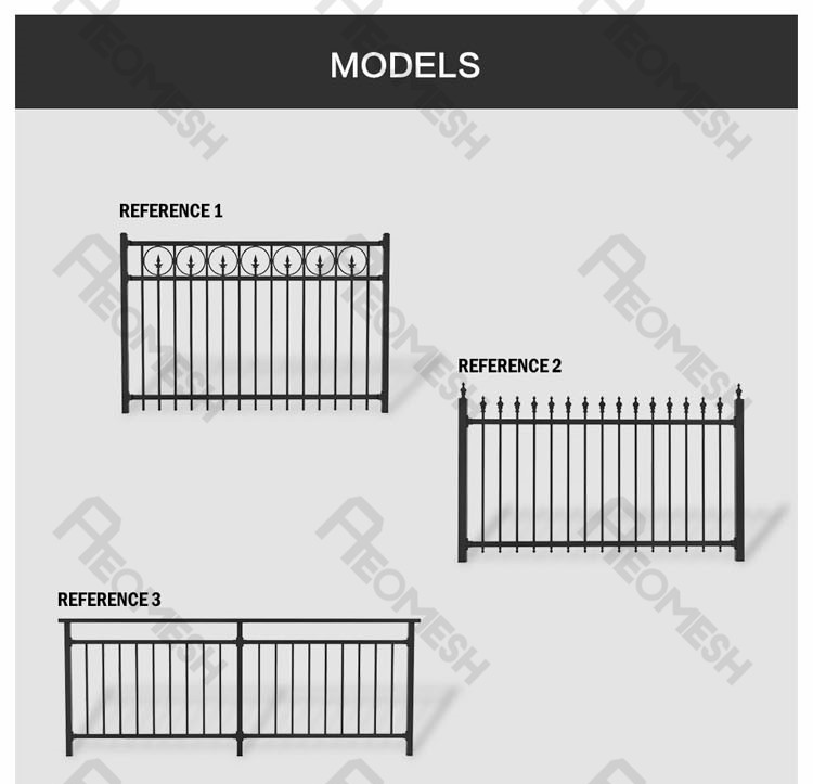 China Supplier Cheap Aluminum Slat Fence Panels, Steel Fence Fost Wholesale