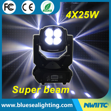 Super beam 4 mini dj disco 4x25w dmx stage light led moving head