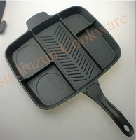 Innovation 5 Sections Divided Aluminum Fry Pan As Seen On Tv Non-stick Frying Pan