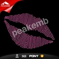 Hot sale lips rhinestone iron on transfer for shirt