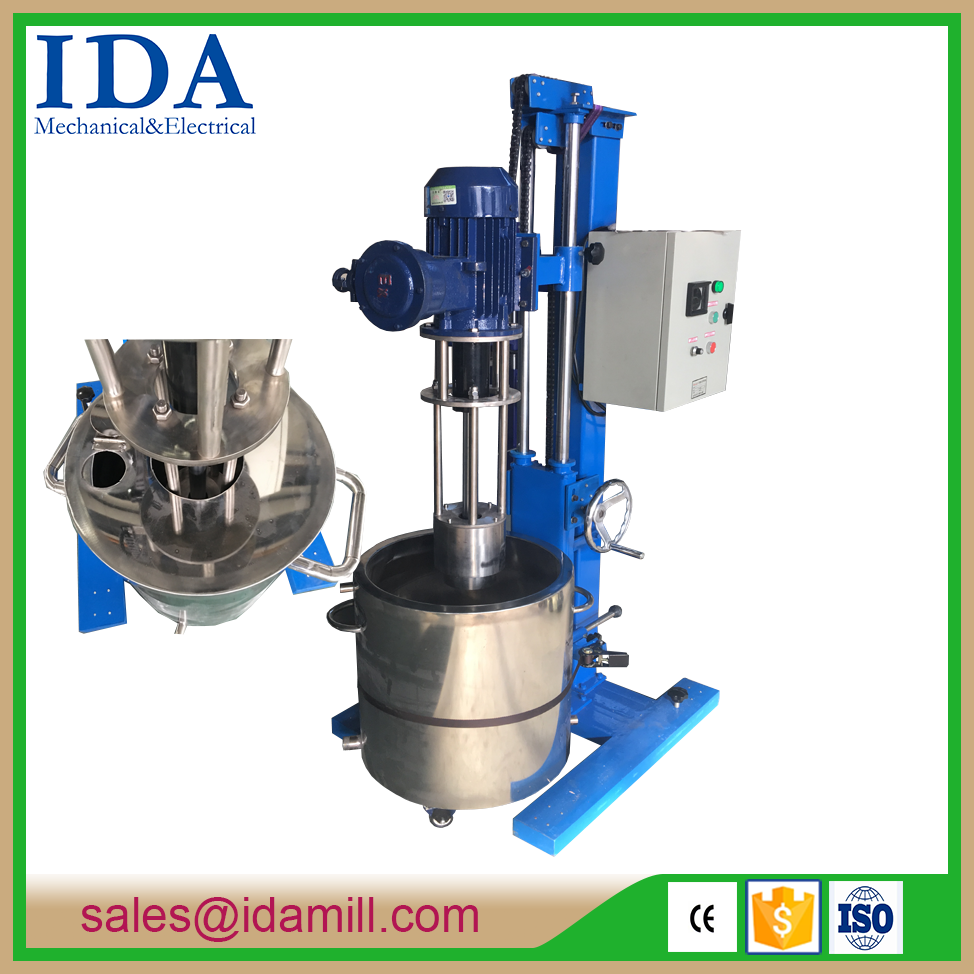 2017 IDA bead mill for adhesive,cosmetics,chocolates and battery