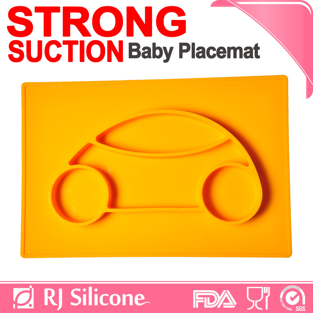 RJSILICONE place mats eating baby bowl silicone mat food plate covers
