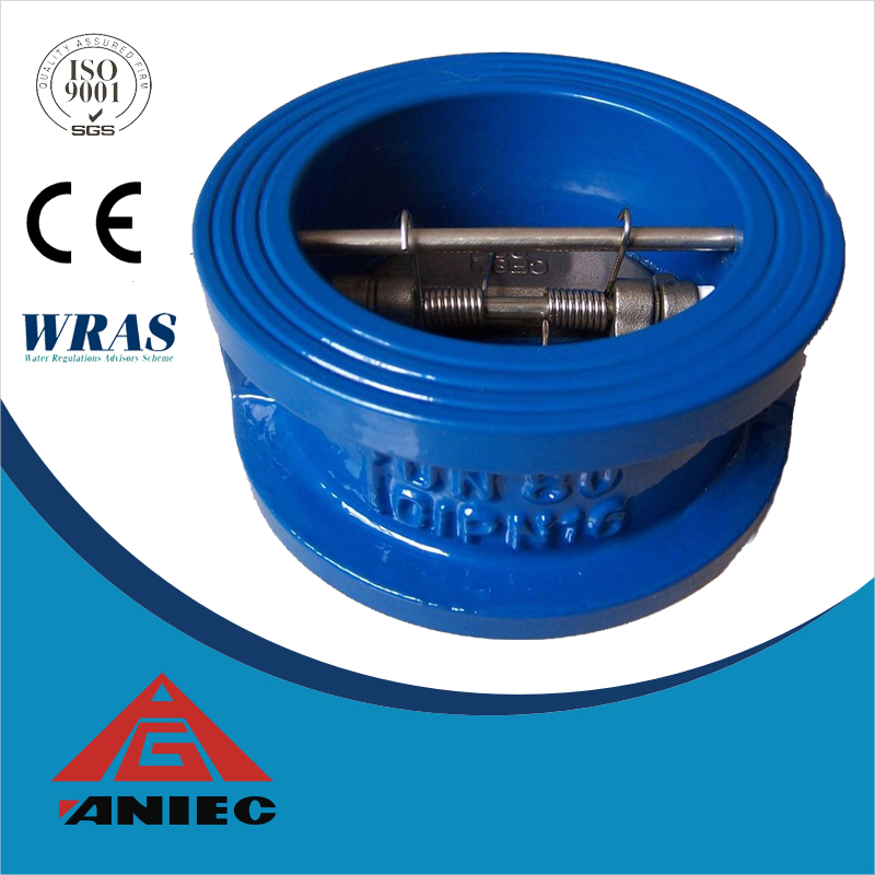 Dual plate lug wafer check valve