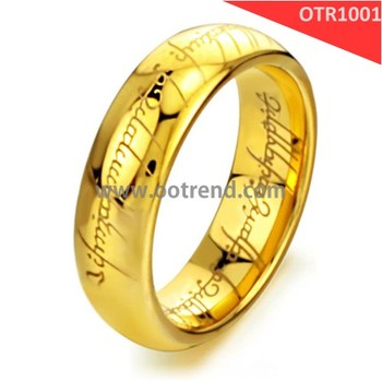 18K Gold lord of the rings one ring available for different sizes