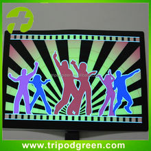 cheap price promotion dancing sound active led panel for t-shirt
