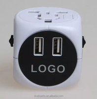 hot sell plug univeral travel double usb adapter world travel adaptor multipurpose plug travel adapter with usb supplier