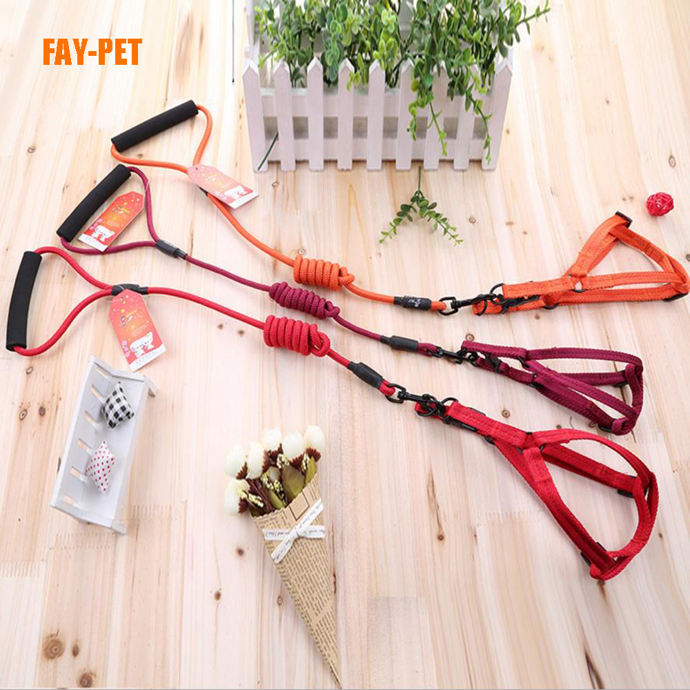 Nylon knit rope dog leash harness amazon top seller 2017 dog leash harness