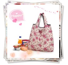Florals Pattern Foldable Shopping Bag,Women Foldable Handbags For Shopping with Small Pouch