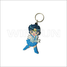 Sexy girl anime version soft pvc key chain