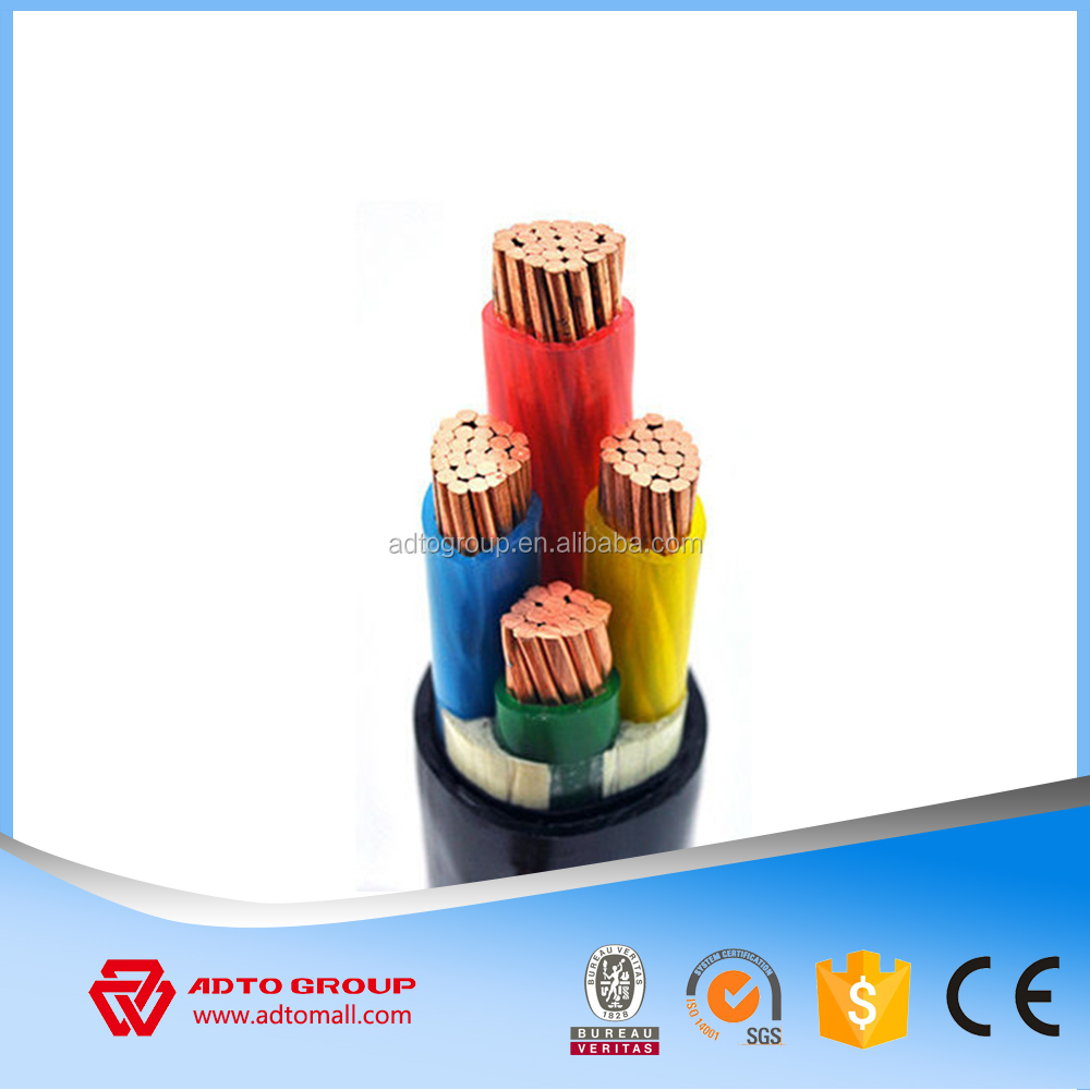 Low voltage PVC XLPE insulated 4x120mm2 Power cable