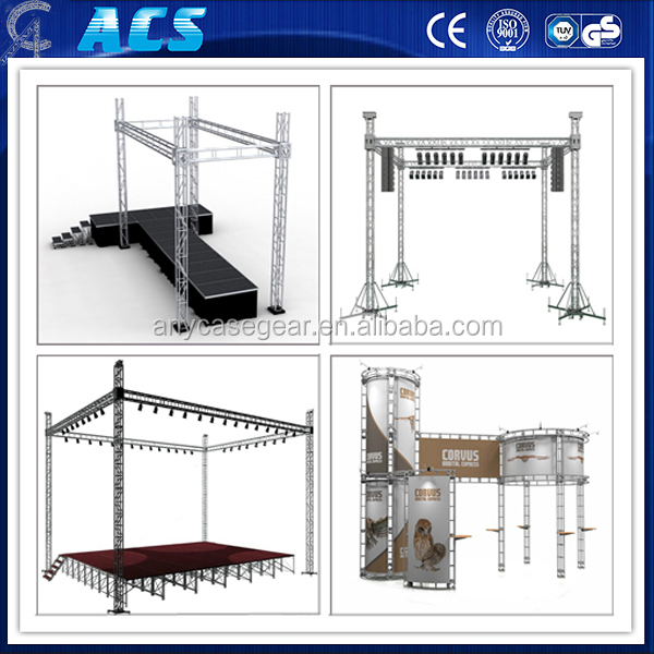 Support Custom Made 4 towers Indoor expo 6.5X6.5X5M Aluminum Alloy Truss mini truss