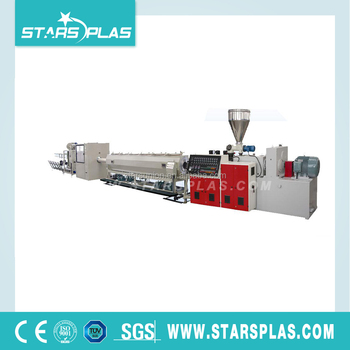 High precision PVC plastic pipe production extrusion line machine