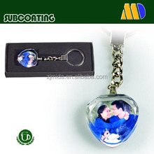 Crystal keychain/crystal glass/gift glass key chain