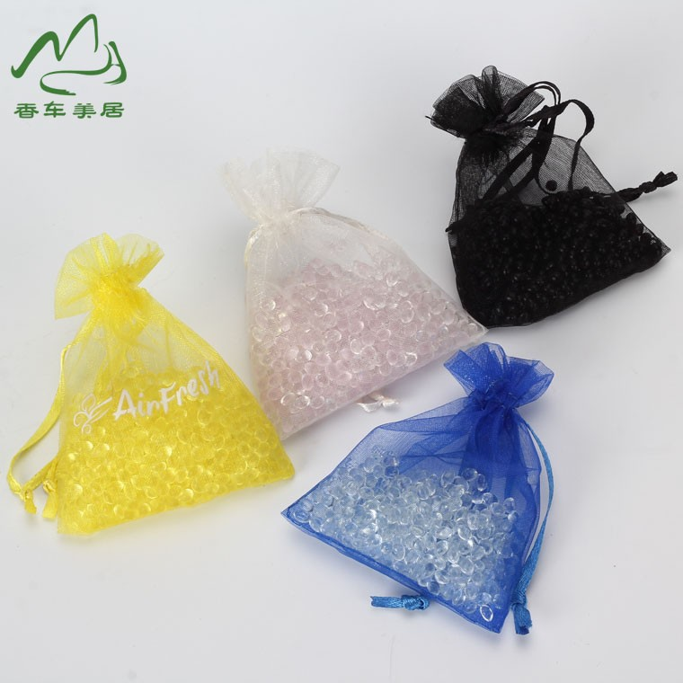 Strawberry beads with mesh bag air freshener