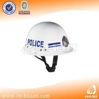 White or blue ABS engineering plastics police service safety helmet