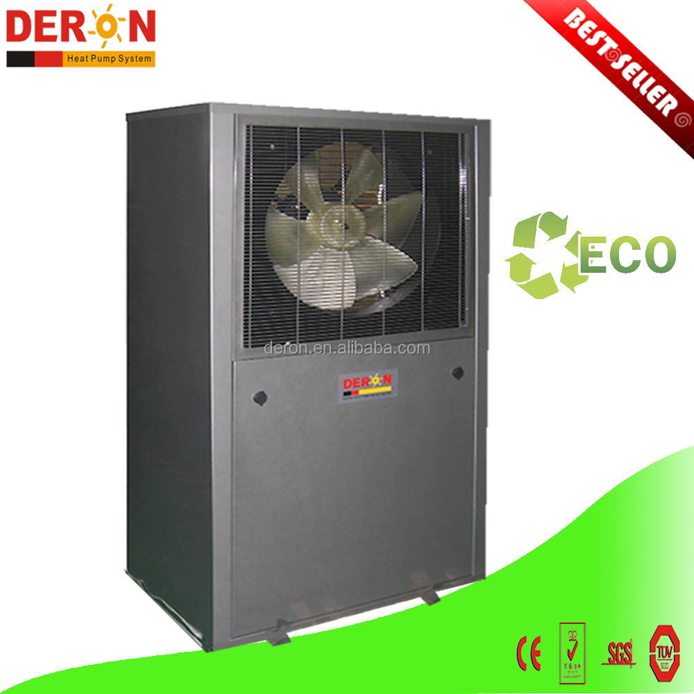High CE RoHs certified Minus 25 degree C Deron evi air source to hot water heat pump with conditioner cooling function 20KW