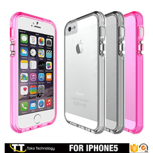 Factory direct supply transparent ultra thin slim armor shockproof phone case for iphone 5