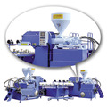 china three color PVC/TPR air blowing injection moulding machine