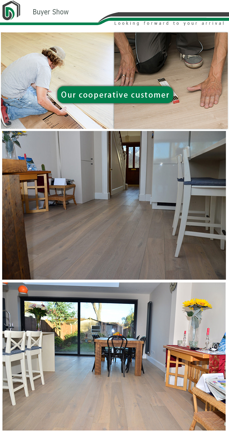 FSC certification Europe UV Oil crack oak engineered solid hardwood flooring