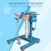Air pneumatic lifting mixer/disperser paint mixer