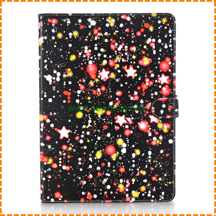 New product Starry Sky Pattern Flip Stand Leather tablet Case for iPad air 1