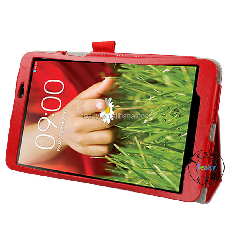 for lg g pad smart cover case, hot sale magnetic shockproof leather case flip cover for lg g pad 8.3 v500