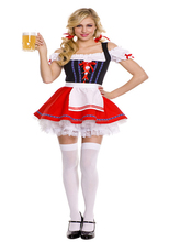 Factory save 30% hot sale oktoberfest costume schoolgirl costume instyles fancy dress