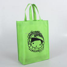 Cute non woven bag pp non woven shopping bag cartoon grocery bag with X stitching