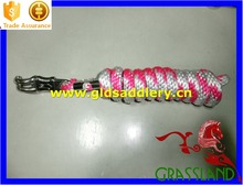 Soft webbing knitted lead rope for horse with high quality hook hardware