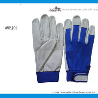Europe leather driver glove leather &fabric