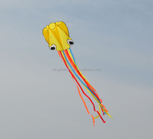 4m yellow color octopus kite