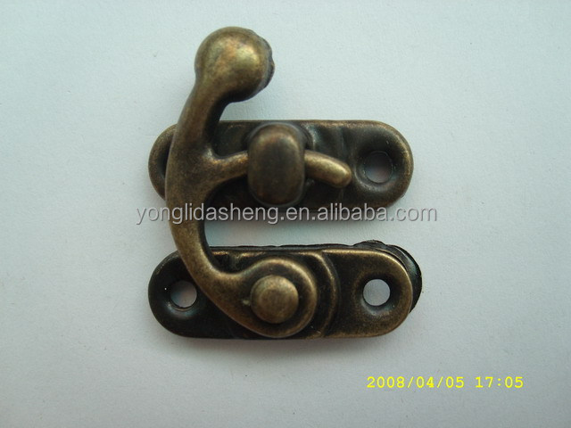 Promotional hardware accessories antique bronze metal locks for luggage bags