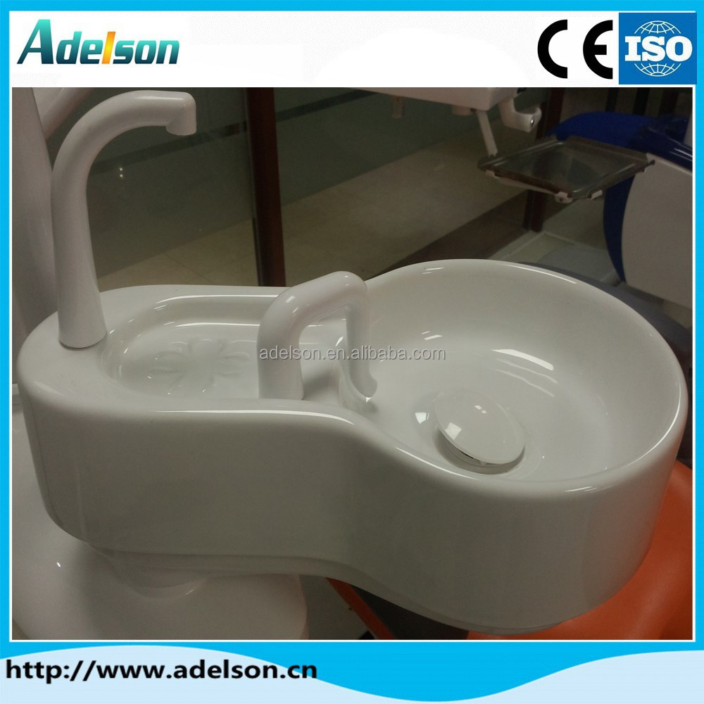 High quality ceramic raw materail rotatable dental ceramic spittoon set