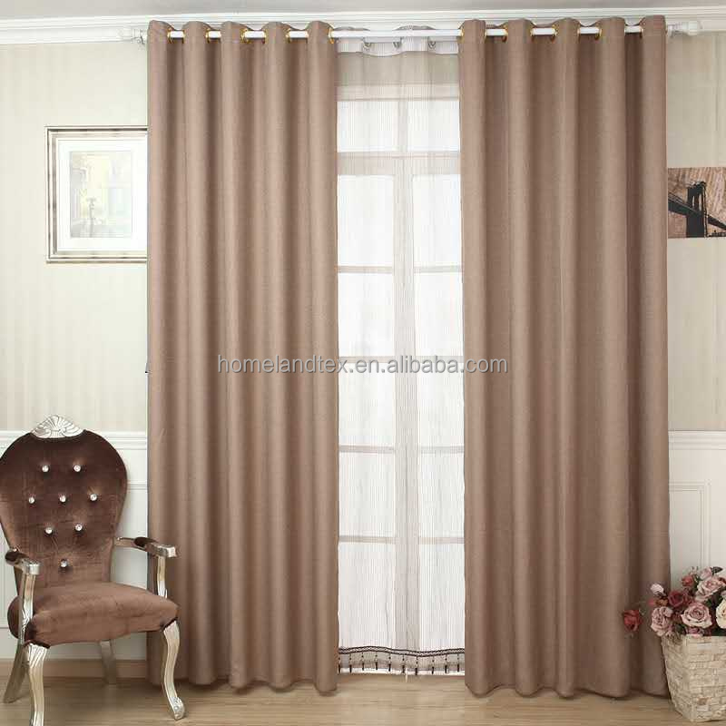 Cheap Linen-look Blackout Curtain Fabric Cheap Window Curtains Wholesale