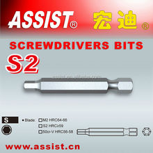 S2 and Cr-V spanner triangle torque h type screwdriver bits