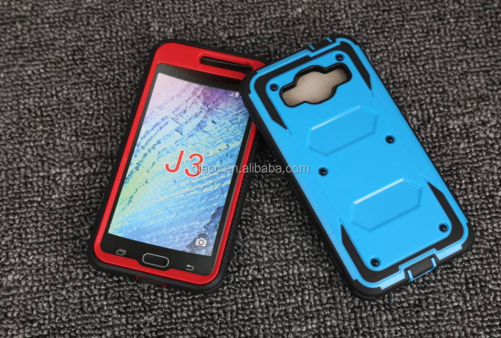Hybrid Shockproof Armor Defender Protective Case Cover for Samsung j3 prime j327 2017 Mobile Phone Accessories
