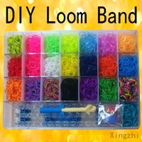 2014 Multicolor Elastic DIY Gift Set 2200- 5000 Colorful Silicone Loom Band