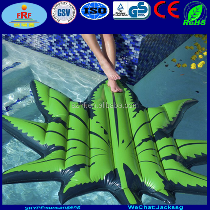 Inflatable Leaf Pool Float, Inflatable Mary Jane Leaf Float