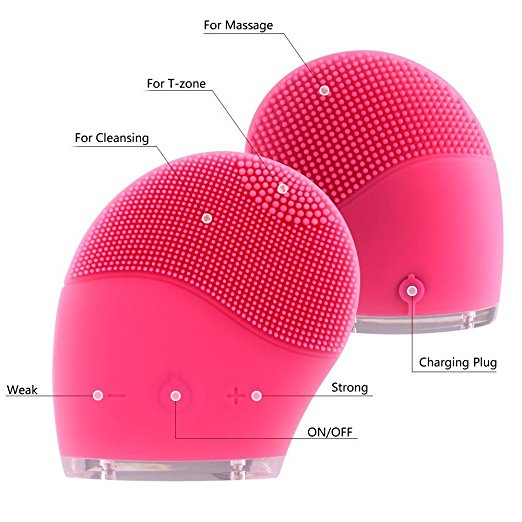face brush electric silicone spa deep cleansing facial cleansing brush face device instrument silicone machine manufacturers